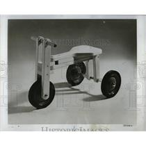 1976 Press Photo Child Wooden Tricycle Advertisement - RRW91269