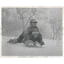 1962 Press Photo Paul Wody John Skenendor Snowfall Park