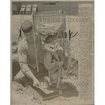 1968 Press Photo Dom Margritia Athletics with Little Harvey - RSC28997