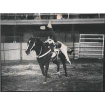 1973 Press Photo Reach Out Tracy Lynn Trick Riding - RRW54941