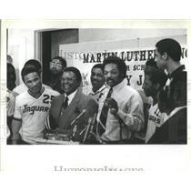 1982 Press Photo Jesse Jackson Presented Team Jacket