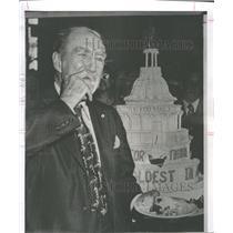 1956 Press Photo Theodore Green Oldest Active Senator - RRV30099