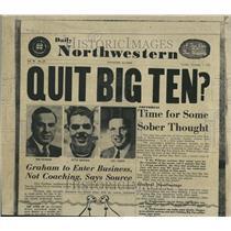 1955 Press Photo Otto Graham Daily Northwestern Paper - RRV65759