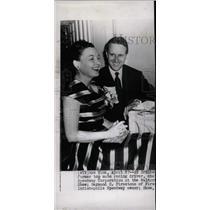 1953 Press Photo Racer Raymond Firestone and Wife - RRW76773