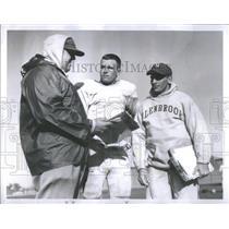 1959 Press Photo Jeck Leese Coach Football Practice Glenbrook High School