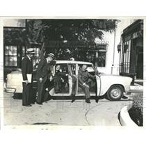 1962 Press Photo Taxi Car Pool Businessmen