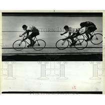 1948 Press Photo Bicycle Races Indoor Competition - RRW05619