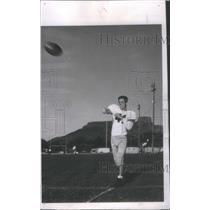 1951 Press Photo Ray Govett Colorado School of Mines Football Player - RSC34807
