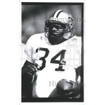 1991 Press Photo Craig Heyward Saints American football New Orleans Saints