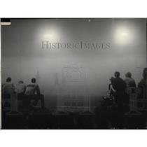 1965 Press Photo Fog Softball Game Cameron Reporto Time - RRW88265
