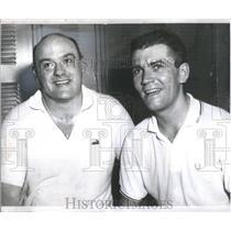1958 Press Photo Clark Hoover College Club Tourney West Coast Squash Finalist