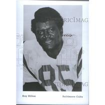 1974 Press Photo Roy Hilton American football defensive National League