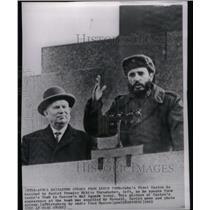 1963 Press Photo Fidel Castro Nikita Khrushchev Lenin - RRX47903