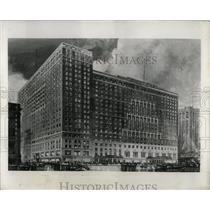 1953 Press Photo Bismarck Hotel Structure LaSalle Chi - RRW68651