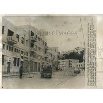 1957 Press Photo Curfew in Street of Amman, Jordan Capt - RRX81917