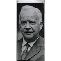 1959 Press Photo Heinrich Lübke President West Germany - RRW80843