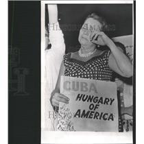 1961 Press Photo Prayer Service Rally Castro Victims - RRW38871