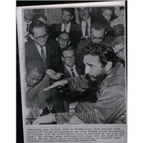 1964 Press Photo Cuban Prime Minister Fidel Castro - RRX47891