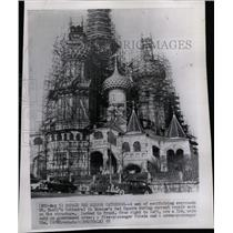 1955 Press Photo St. Basils Cathedral Moscow Red Square - RRX71329