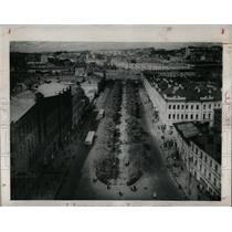 1948 Press Photo Neglinnaya street Moscow Russia Garden - RRX69161