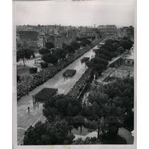 1953 Press Photo Rome Italy Via Dei Fori Imperiali Army - RRX70717