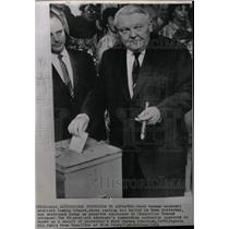 1961 Press Photo West German Minister Ludwig Erhard - RRW21297