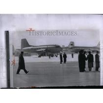 1958 Press Photo Nikolai Buganin soviet premier Vnukovo - RRX55781