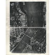 1945 Press Photo Rhine River Bridges Recon Photos - RRX92779