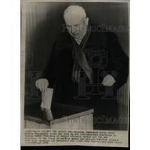 1958 Press Photo Khrushchev voting in parliamentary - RRX70191