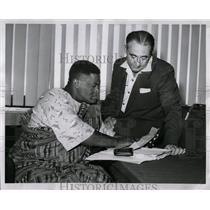 1955 Press Photo African Labor Leader Emil Mazey - RRW02429