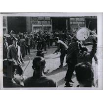 1953 Press Photo Fascist Youth Riot In Rome - RRX78377