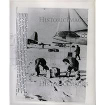1956 Press Photo Russian Arctic Floating Ice Station - RRX70363