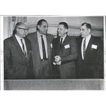 1959 Press Photo Krause Huddles Ed Krause Notre Dam - RRX96873