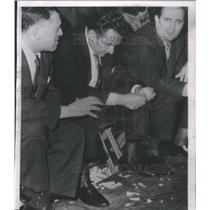 1959 Press Photo St Louis bench program torn shreds game