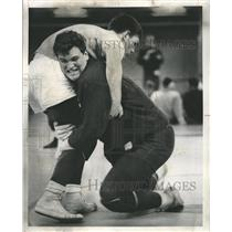 1968 Press Photo Addison Trail High Wrestling - RRW41847