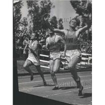 1937 Press Photo Humber Washington Track Meets Michigan 100 yard - RSC34875