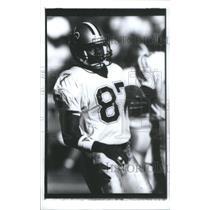 1990 Press Photo Lonzell Ramon Hill American Football New Orleans Saint NFL Play