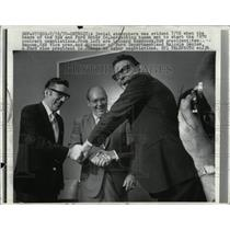 1970 Press Photo UAW Ford Motor Company Jovial Atmosphe