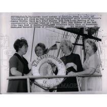 1966 Press Photo Boston American Women Old Iron Trail - RRU95619
