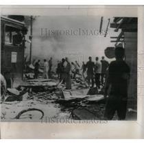 1965 Press Photo Nha Trang B-57 Jet Bomber Wreckage