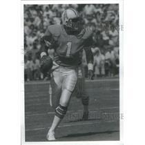 1985 Press Photo Warren Moon Houston Oilers Football Quarterback - RSC34803