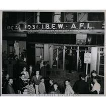 1954 Press Photo Explosion AFL Union Headquarters - RRX11339