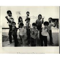 1979 Press Photo Karate Kicking Eli reed