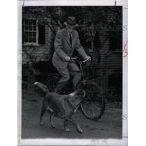 1955 Press Photo Dr. White Rides English Type Bicycle - RRX71191