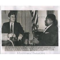 1961 Press Photo Joseph Ngous, ambassador of the Republic of Gabon (Africa)
