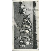 1940 Press Photo Denver Fowl City Park lake fishing - RRX95081