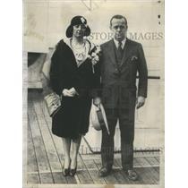 1930 Press Photo Gordon Thorne wife May Bolin - RSC57727