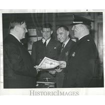 1939 Press Photo 3 Detroit Policemen Cited For Bravery