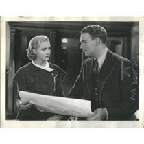 1932 Press Photo Marian Marsh Joel McCrea Film Television Actor - RSC99451