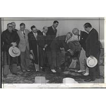 1941 Press Photo Rotary Records Dedication Mount Evans - RRX99141